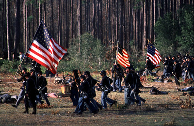 Civil War reenactment at Olustee