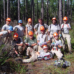 Trail maintenance crew on the Florida Trail